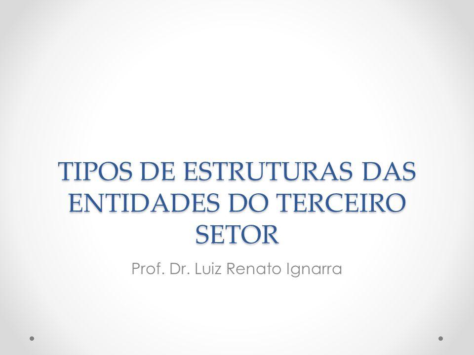 TIPOS DE ESTRUTURAS DAS ENTIDADES DO TERCEIRO SETOR