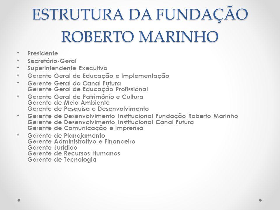 ESTRUTURA DA FUNDAÇÃO ROBERTO MARINHO