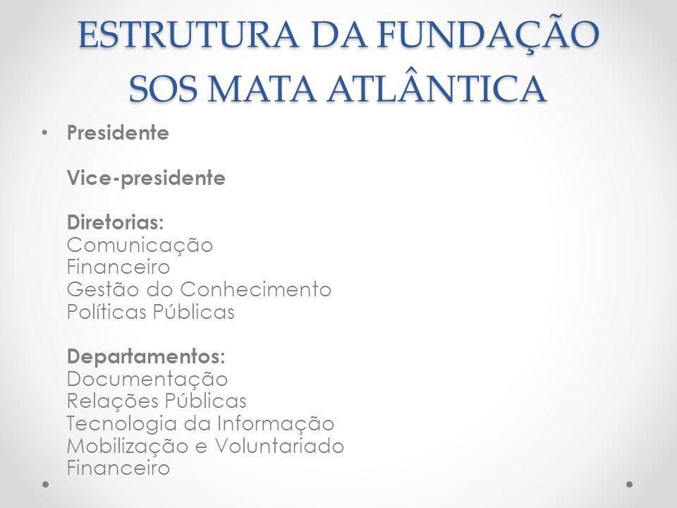 ESTRUTURA DA FUNDAÇÃO SOS MATA ATLÂNTICA