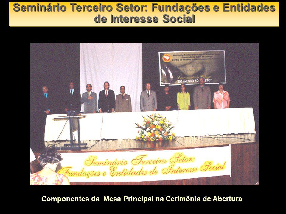 Componentes da Mesa Principal na Cerimônia de Abertura