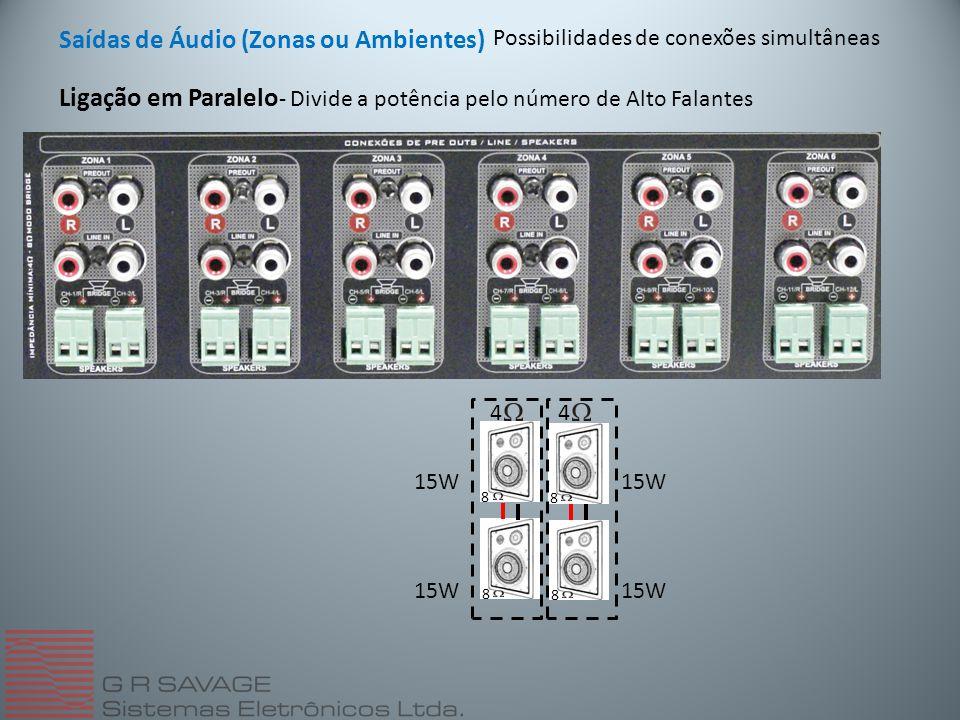 Saídas de Áudio (Zonas ou Ambientes)
