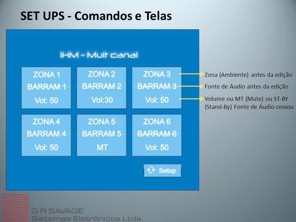 SET UPS - Comandos e Telas