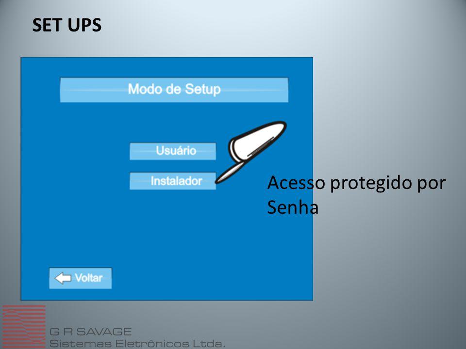 SET UPS Acesso protegido por Senha