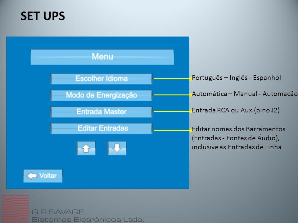 SET UPS Português – Inglês - Espanhol Automática – Manual - Automação