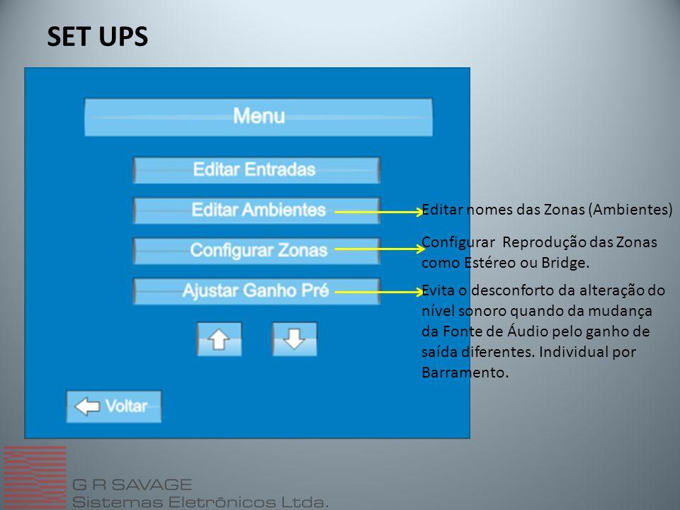 SET UPS Editar nomes das Zonas (Ambientes)