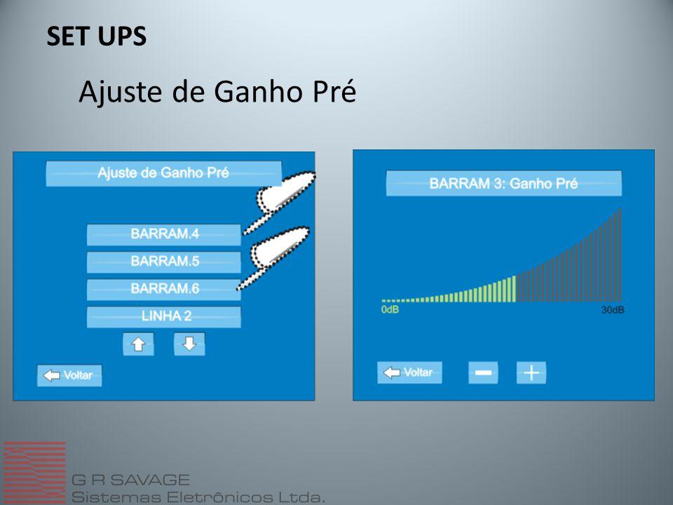 SET UPS Ajuste de Ganho Pré