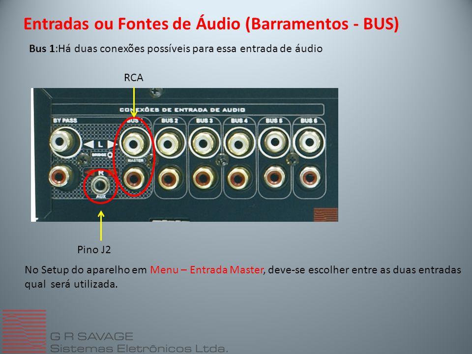 Entradas ou Fontes de Áudio (Barramentos - BUS)
