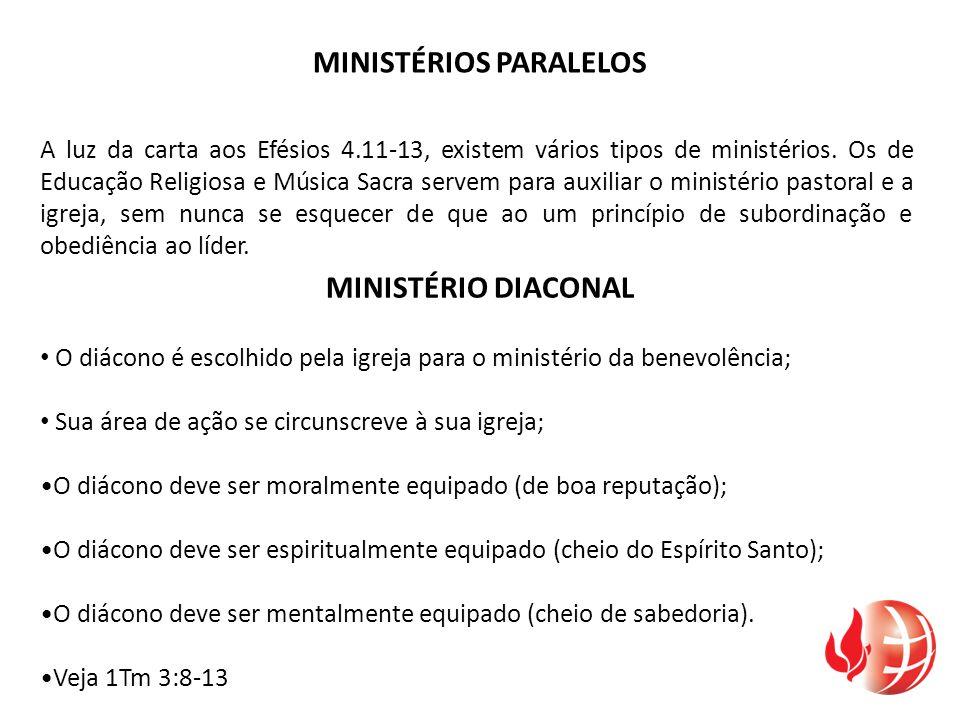 MINISTÉRIOS PARALELOS