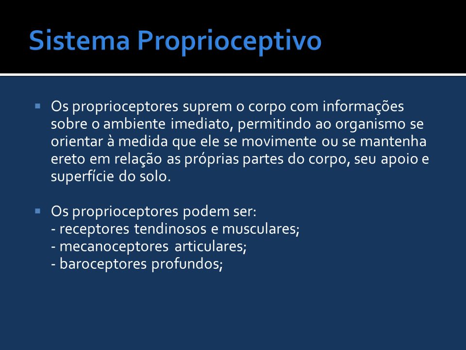 Sistema Proprioceptivo