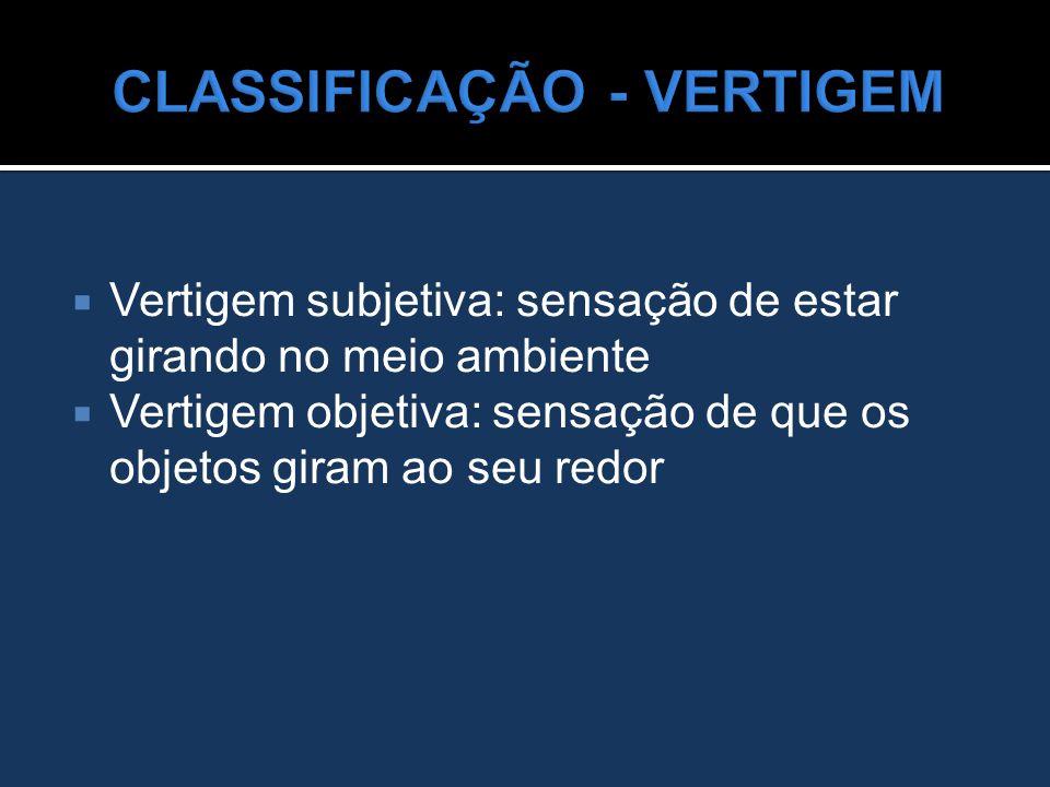 CLASSIFICAÇÃO - VERTIGEM