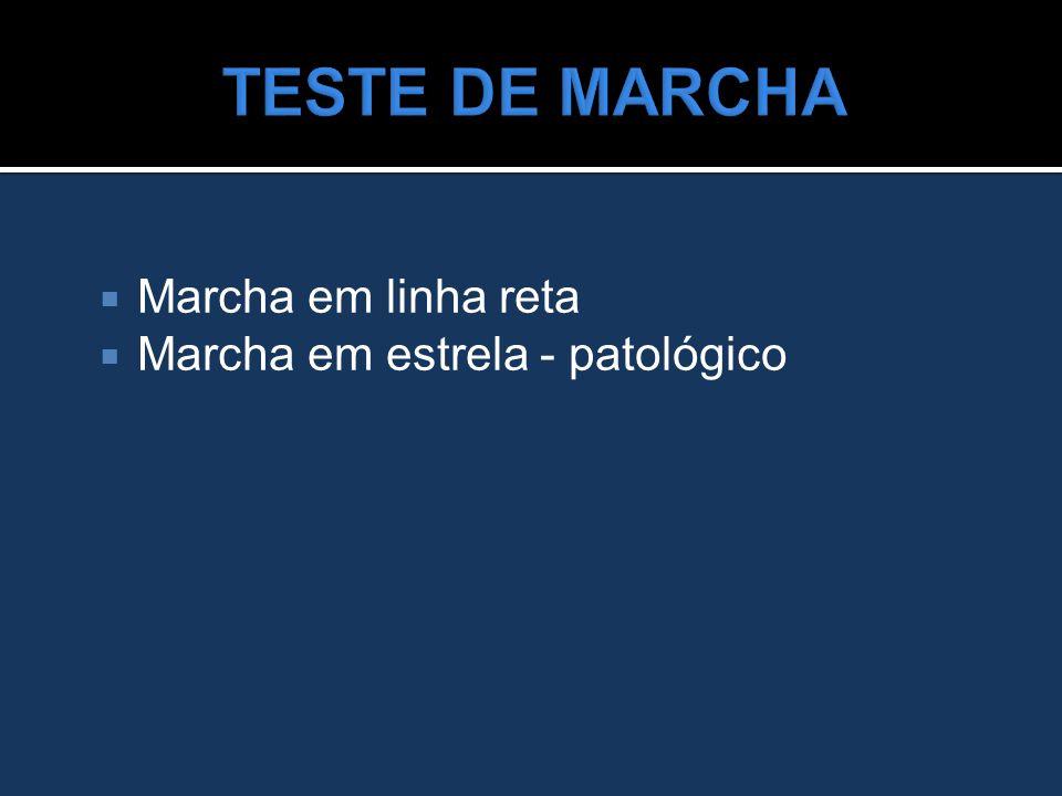 TESTE DE MARCHA Marcha em linha reta Marcha em estrela - patológico