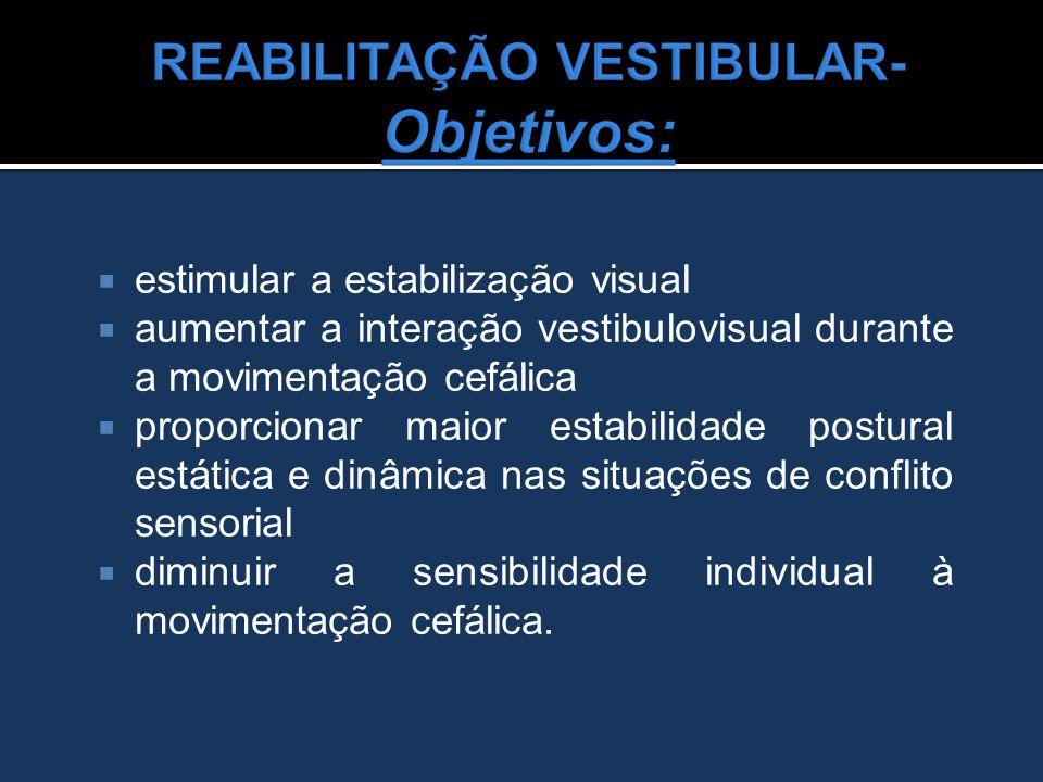 REABILITAÇÃO VESTIBULAR- Objetivos: