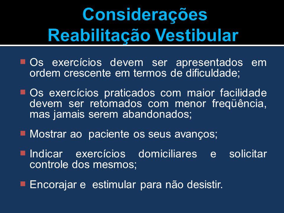 Considerações Reabilitação Vestibular