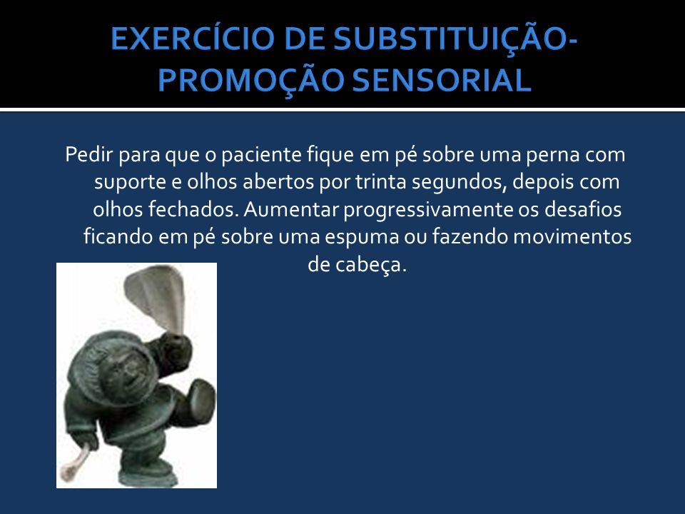 EXERCÍCIO DE SUBSTITUIÇÃO-PROMOÇÃO SENSORIAL