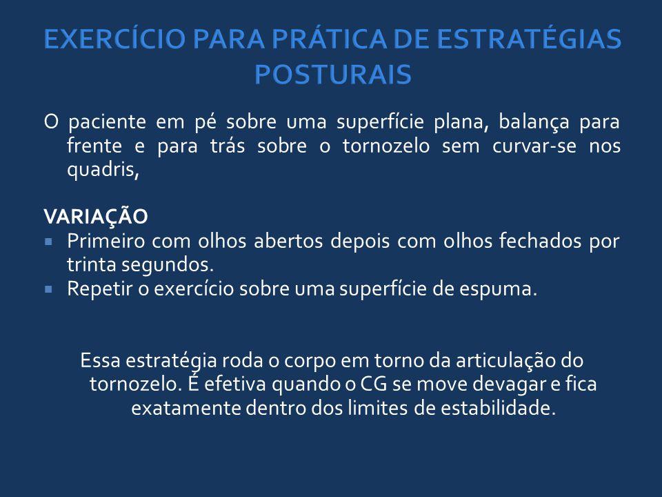 EXERCÍCIO PARA PRÁTICA DE ESTRATÉGIAS POSTURAIS