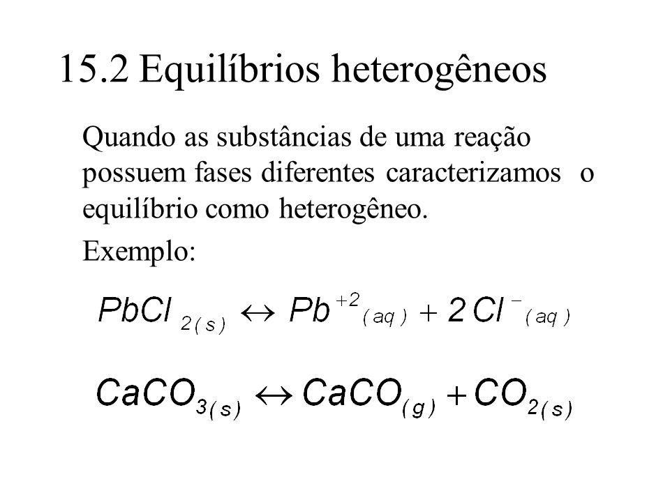 15.2 Equilíbrios heterogêneos