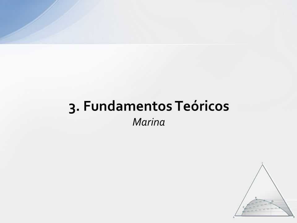 3. Fundamentos Teóricos Marina
