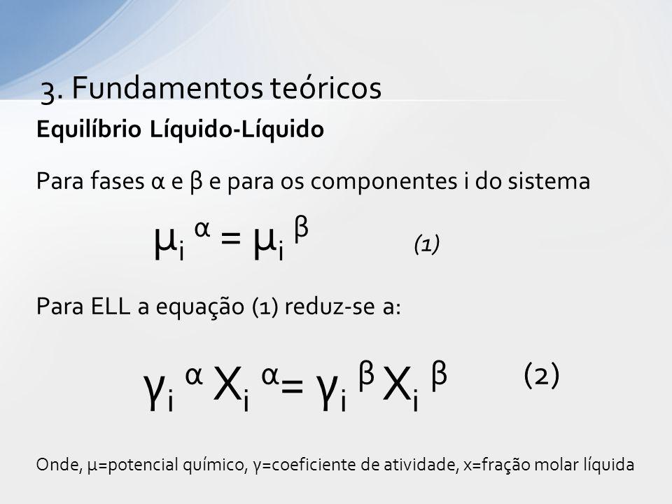 μi α = μi β γi α Xi α= γi β Xi β (2) 3. Fundamentos teóricos