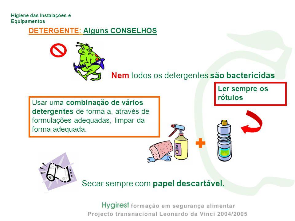  Nem todos os detergentes são bactericidas