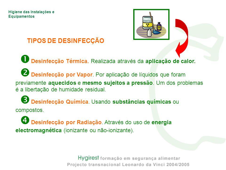  Desinfecção Térmica. Realizada através da aplicação de calor.