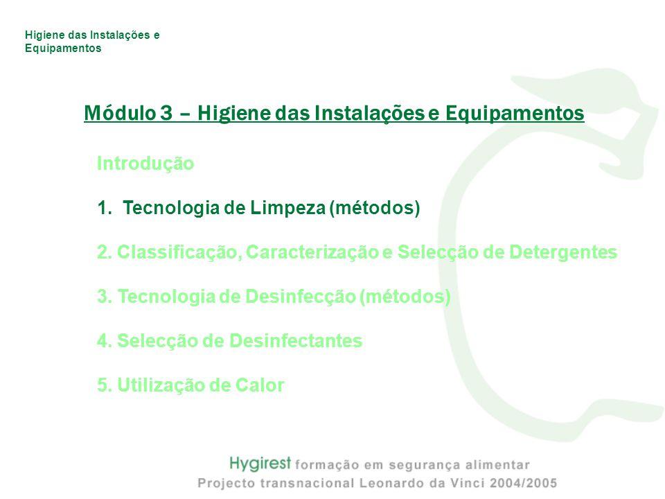 Módulo 3 – Higiene das Instalações e Equipamentos