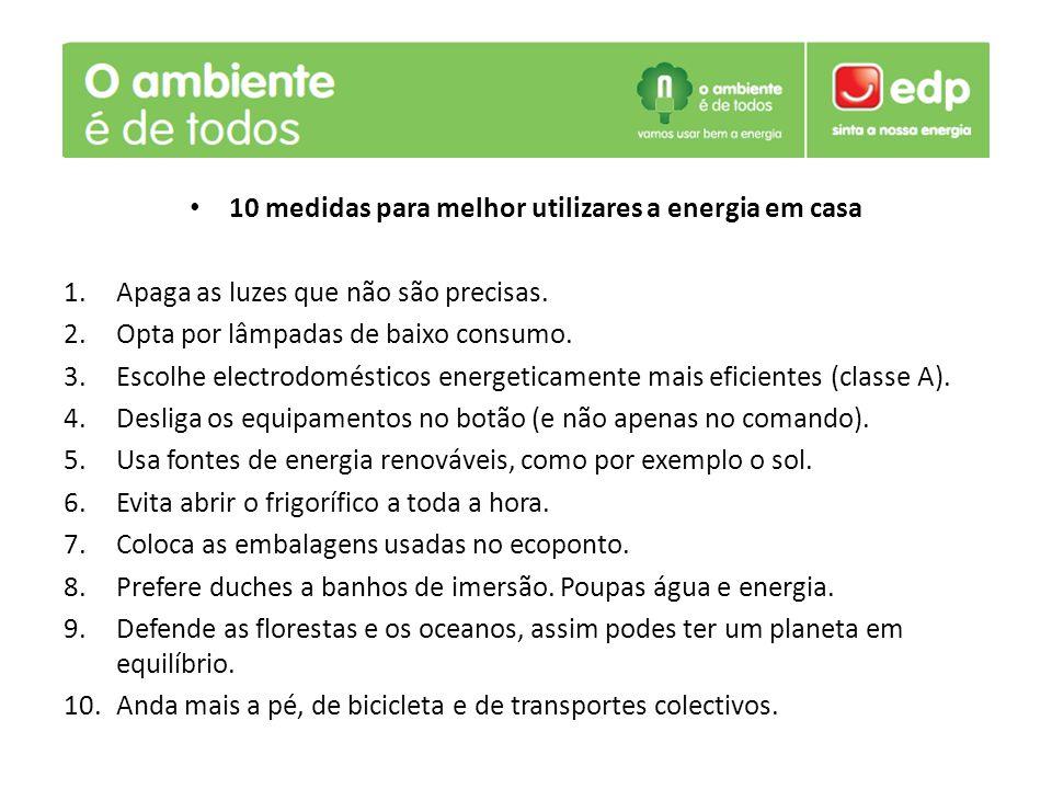 10 medidas para melhor utilizares a energia em casa