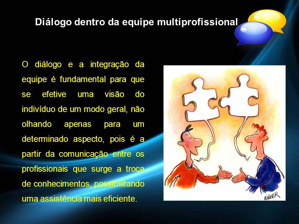 Diálogo dentro da equipe multiprofissional