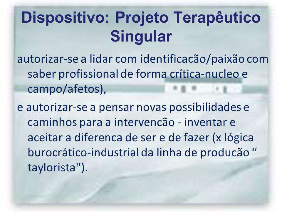 Dispositivo: Projeto Terapêutico Singular