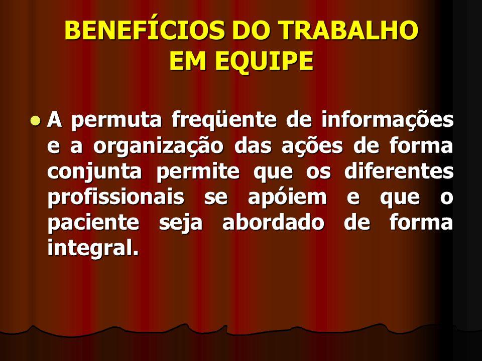 BENEFÍCIOS DO TRABALHO EM EQUIPE