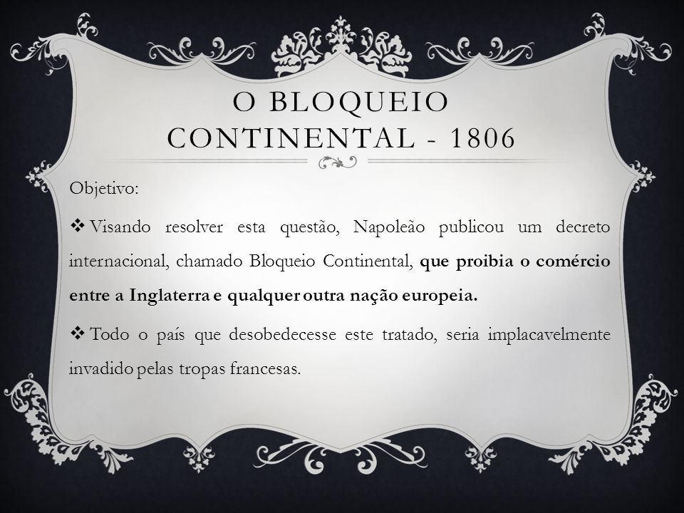 O bloqueio continental - 1806
