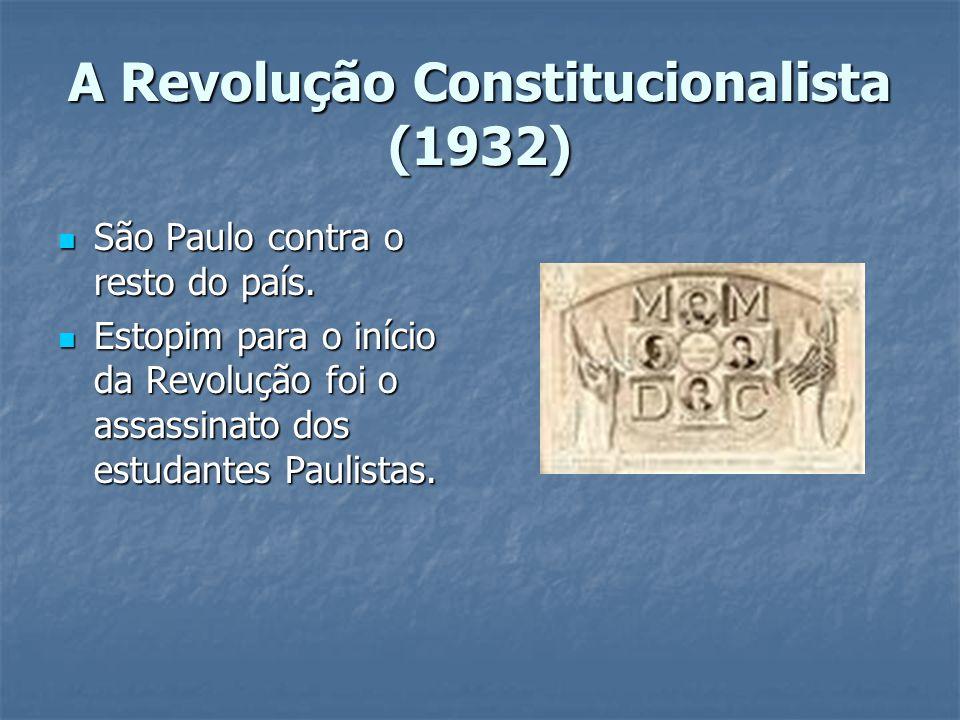 A Revolução Constitucionalista (1932)