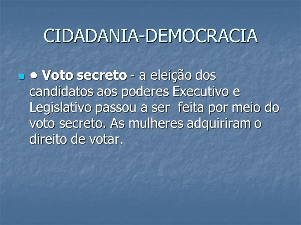 CIDADANIA-DEMOCRACIA