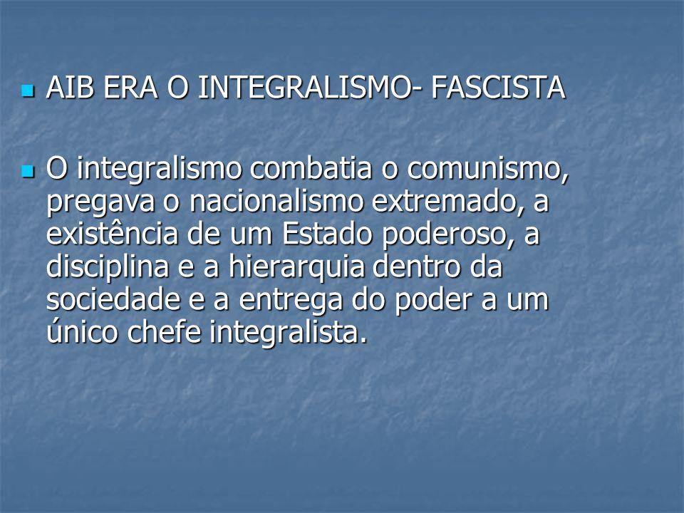 AIB ERA O INTEGRALISMO- FASCISTA
