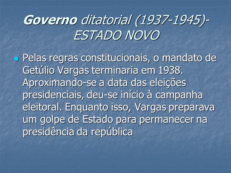 Governo ditatorial (1937-1945)-ESTADO NOVO