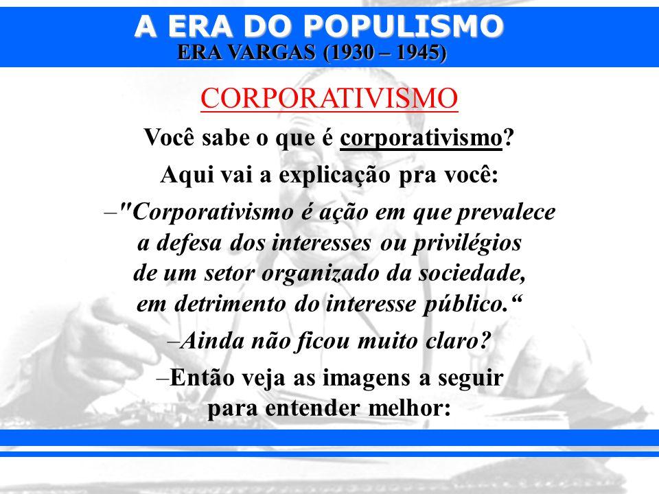 CORPORATIVISMO Você sabe o que é corporativismo