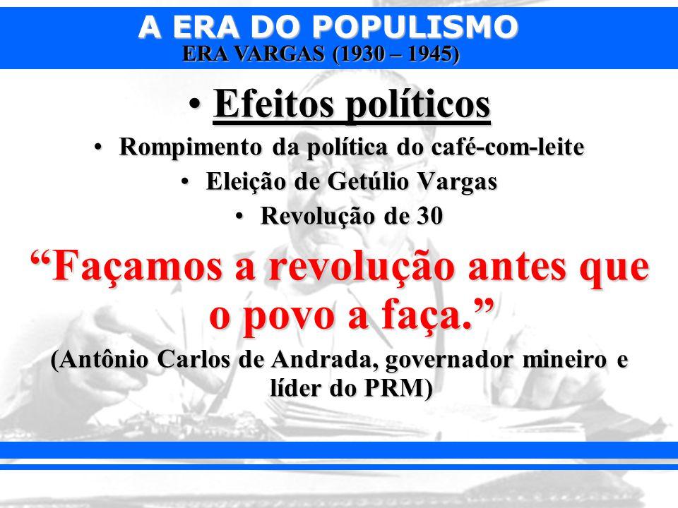 Façamos a revolução antes que o povo a faça.