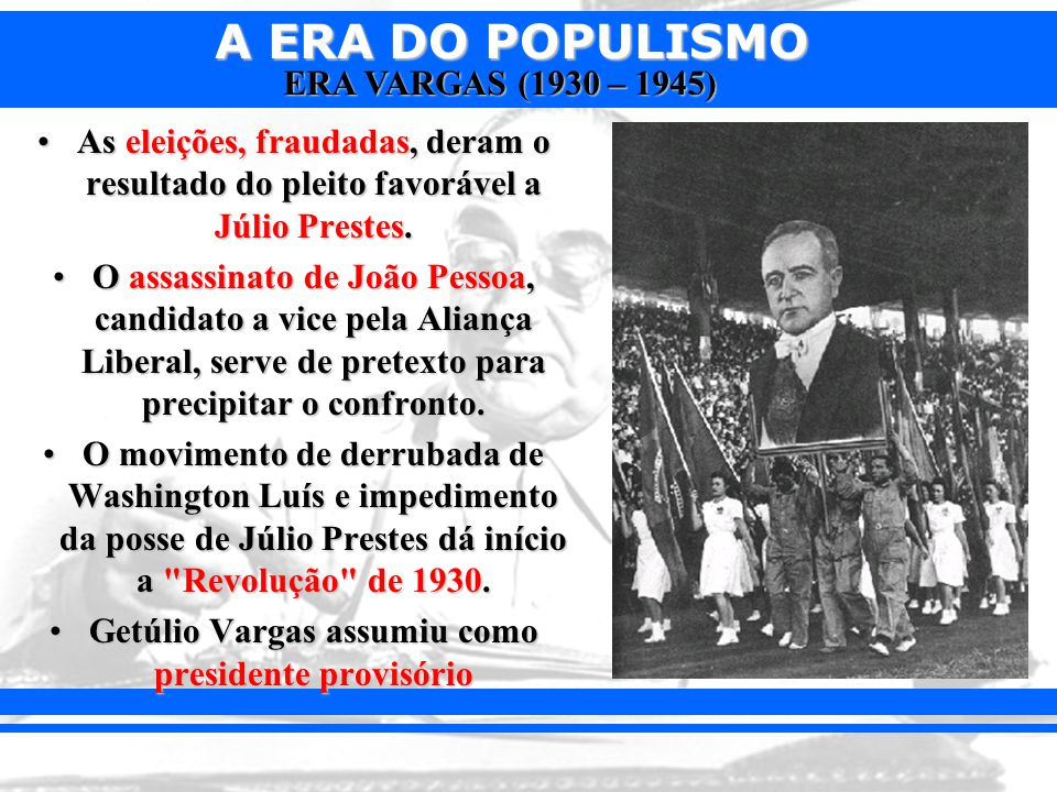 Getúlio Vargas assumiu como presidente provisório
