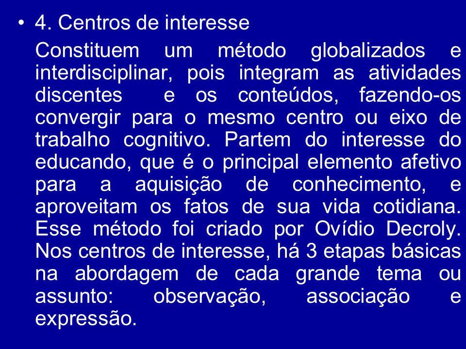 4. Centros de interesse