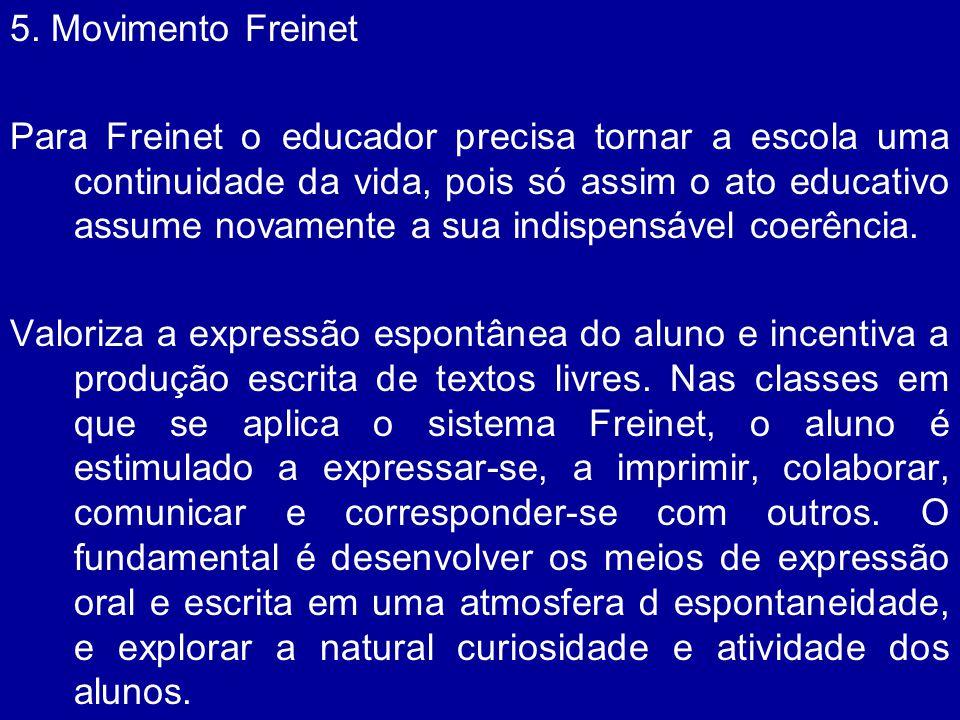 5. Movimento Freinet