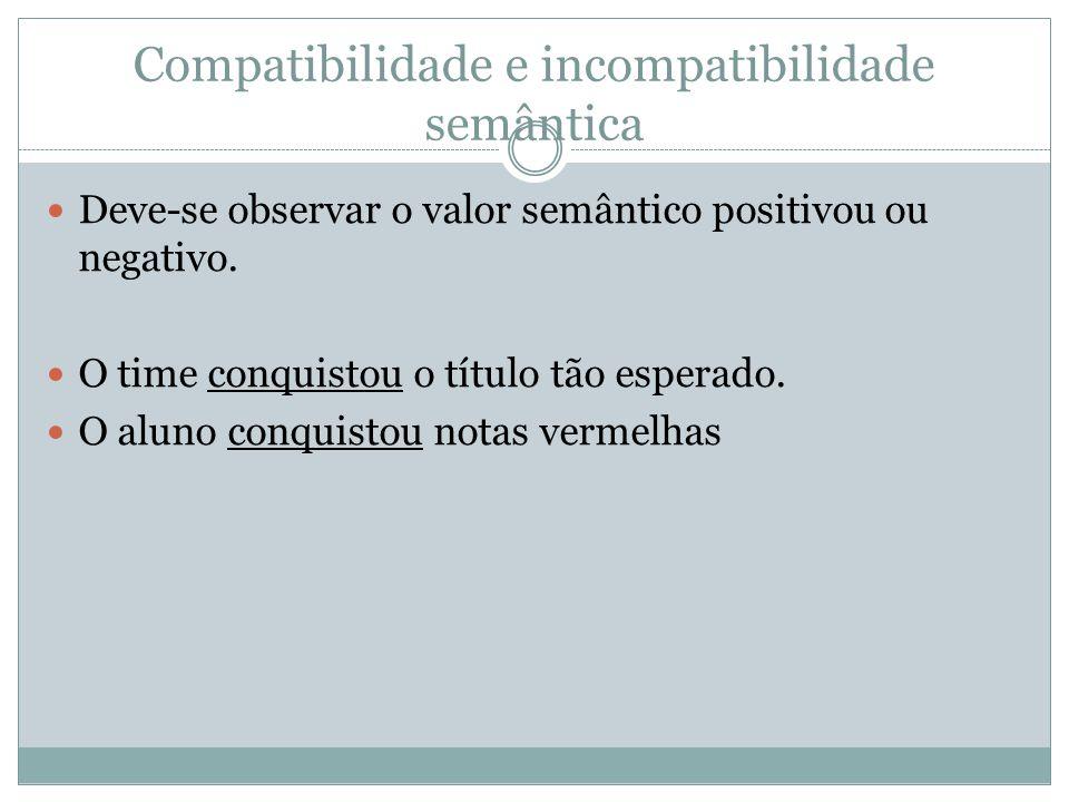 Compatibilidade e incompatibilidade semântica