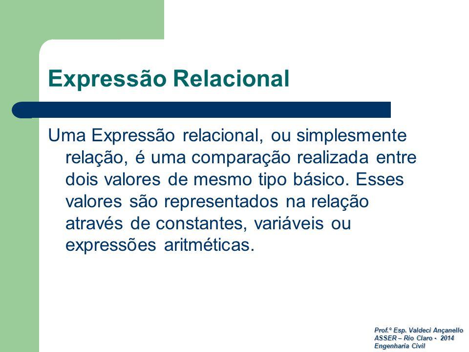 Expressão Relacional