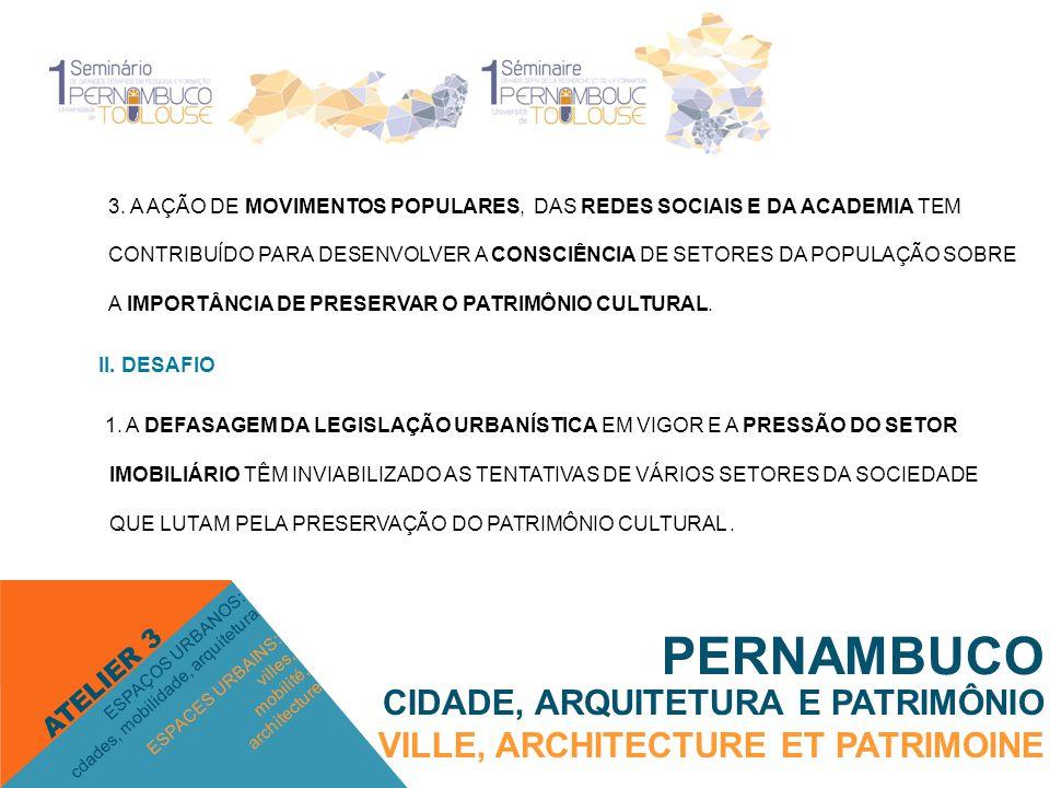 PERNAMBUCO CIDADE, ARQUITETURA E PATRIMÔNIO