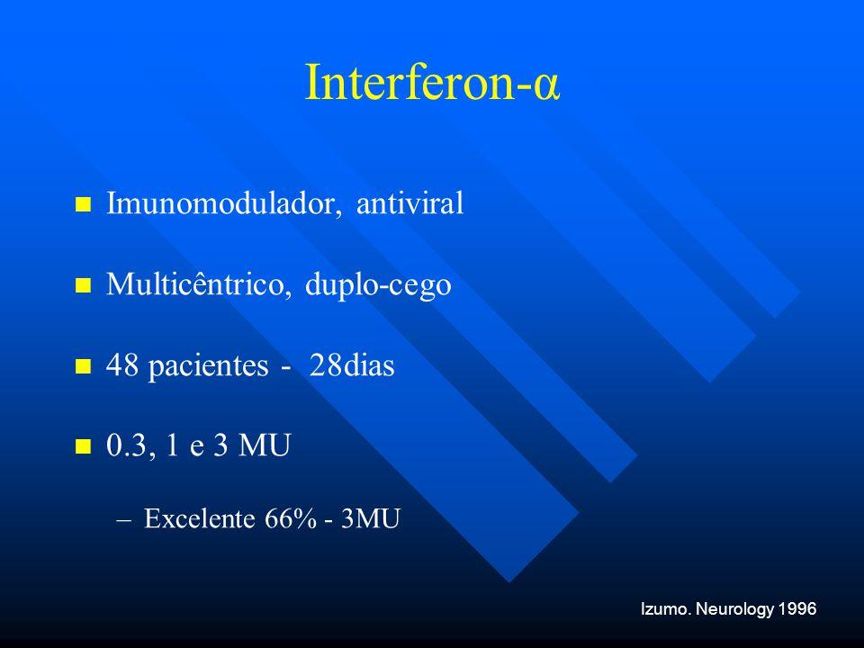 Interferon-α Imunomodulador, antiviral Multicêntrico, duplo-cego