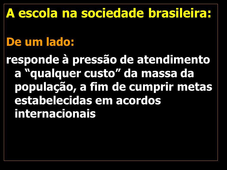 A escola na sociedade brasileira: