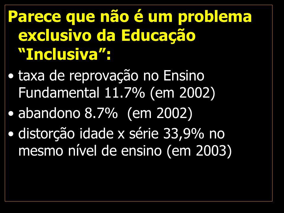 Parece que não é um problema exclusivo da Educação Inclusiva :