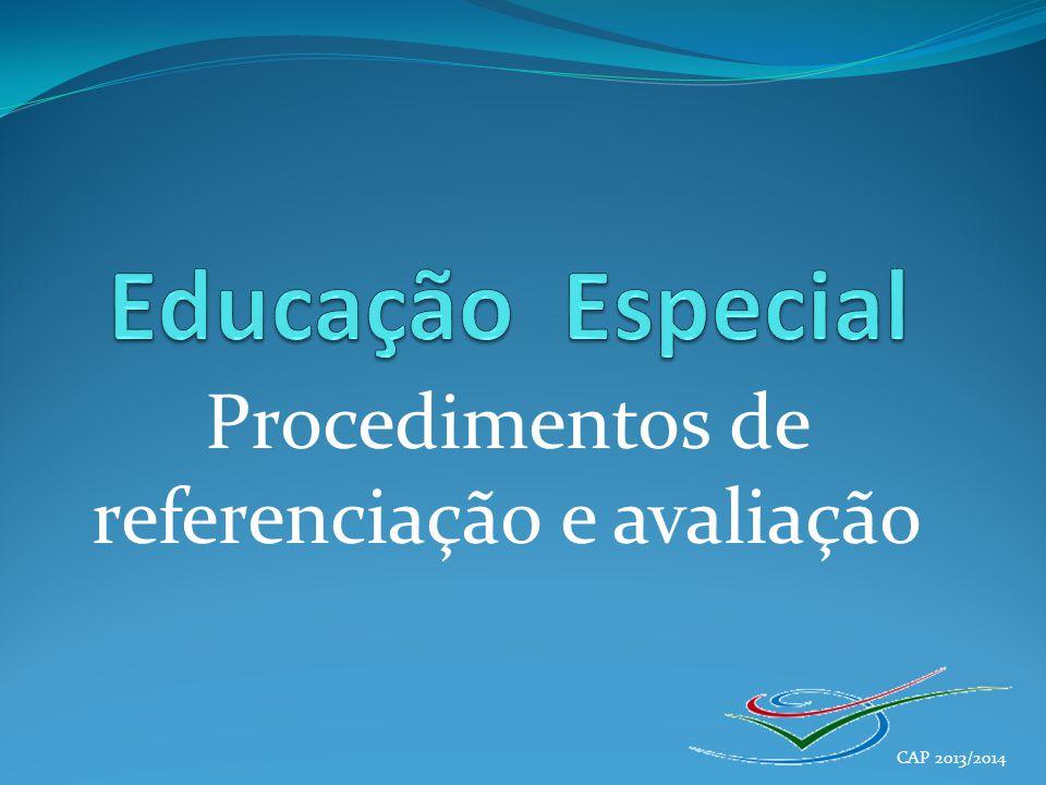 Procedimentos de referenciação e avaliação