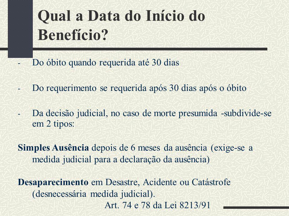 Qual a Data do Início do Benefício