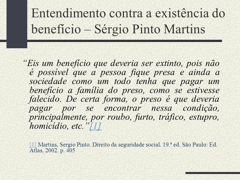 Entendimento contra a existência do benefício – Sérgio Pinto Martins