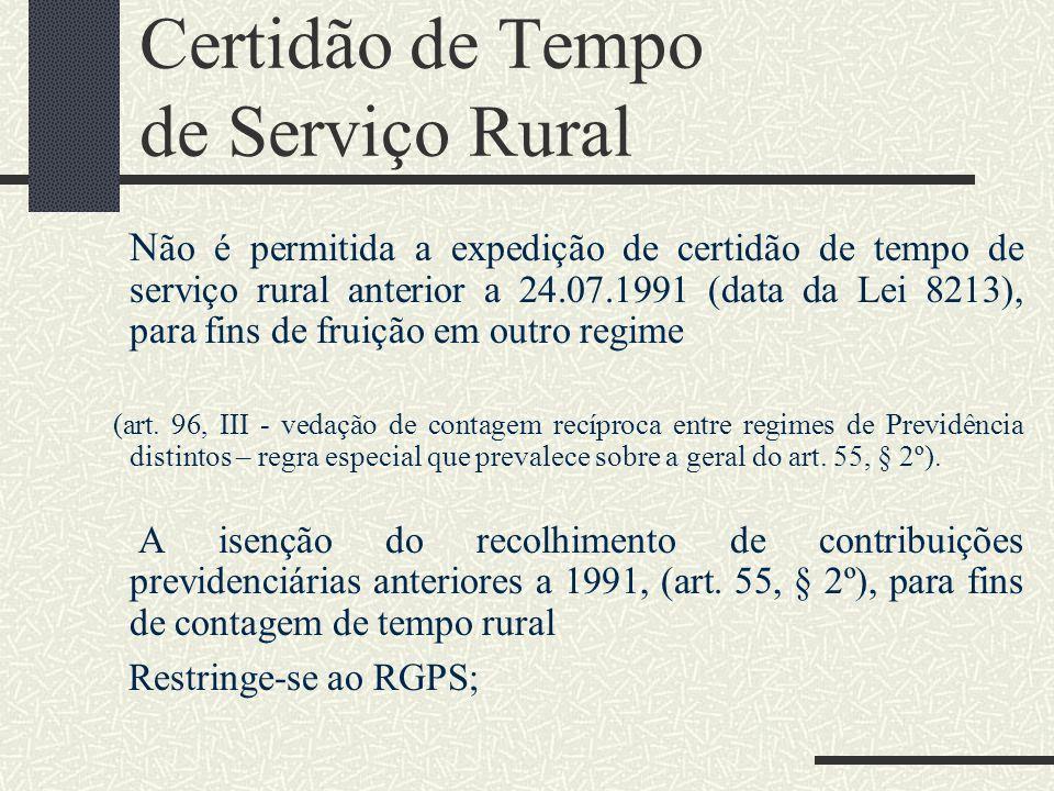 Certidão de Tempo de Serviço Rural
