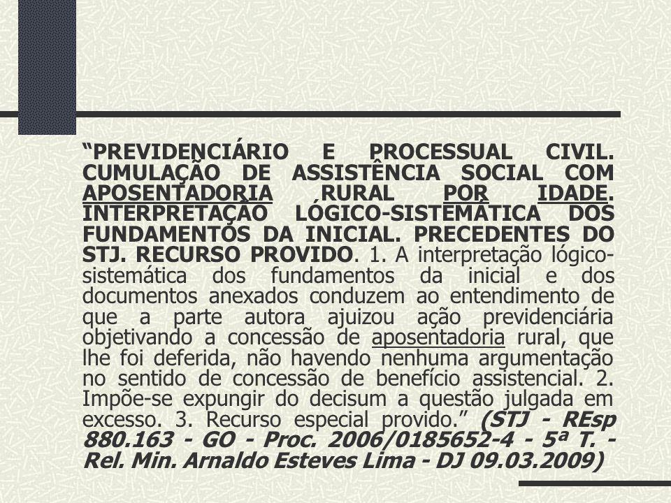 PREVIDENCIÁRIO E PROCESSUAL CIVIL